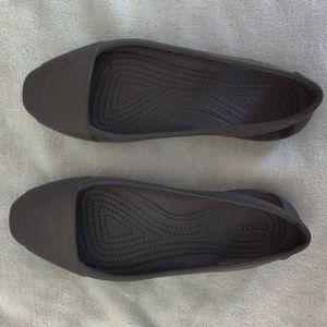 Black Crocs Flats // Size 7